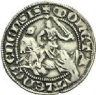 Photo numismatique  ARCHIVES VENTE 2013 -Coll Henri Dolet MONNAIES DU HAINAUT - VALENCIENNES Comté de HAINAUT MARGUERITE de Constantinople (1244-1280) 420- Baudekin du 1er type, Valenciennes, à partir de 1269.