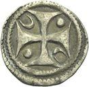 Photo numismatique  ARCHIVES VENTE 2013 -Coll Henri Dolet MONNAIES DU HAINAUT - VALENCIENNES Comté de HAINAUT MAILLES MUETTES (fin XIIe - début XIIIe) 413- Maille muette.