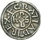 Photo numismatique  ARCHIVES VENTE 2013 -Coll Henri Dolet MONNAIES DU HAINAUT - VALENCIENNES CAROLINGIENS - Charles le Chauve (840-875)  405- Denier frappé à Valenciennes après 869.