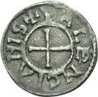 Photo numismatique  ARCHIVES VENTE 2013 -Coll Henri Dolet MONNAIES DU HAINAUT - VALENCIENNES CAROLINGIENS - Charles le Chauve (840-875)  403- Denier frappé à Valenciennes après 869.