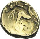 Photo numismatique  ARCHIVES VENTE 2013 -Coll Henri Dolet MONNAIES DU HAINAUT - VALENCIENNES GAULE - Suessiones  401- Statère d'or.