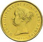 Photo numismatique  ARCHIVES VENTE 2013 -Coll Henri Dolet BARONNIALES et ETRANGERES PORTUGAL MARIE II (1834-1853) 397- 2 500 reis or, Lisbonne 1851.