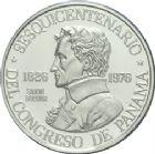 Photo numismatique  ARCHIVES VENTE 2013 -Coll Henri Dolet BARONNIALES et ETRANGERES PANAMA République (depuis 1903) 396- 150 Balboas 1976 en platine.