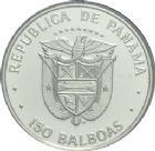 Photo numismatique  ARCHIVES VENTE 2013 -Coll Henri Dolet BARONNIALES et ÉTRANGERES PANAMA République (depuis 1903) 396- 150 Balboas 1976 en platine.