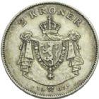 Photo numismatique  ARCHIVES VENTE 2013 -Coll Henri Dolet BARONNIALES et ETRANGERES NORVEGE  395A- 2 Kroner 1907.