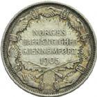 Photo numismatique  ARCHIVES VENTE 2013 -Coll Henri Dolet BARONNIALES et ÉTRANGERES NORVEGE  395A- 2 Kroner 1907.