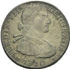 Photo numismatique  ARCHIVES VENTE 2013 -Coll Henri Dolet BARONNIALES et ETRANGERES MEXIQUE FERDINAND VII, roi d'Espagne (1808-1821) 395- 8 reales, Mexico 1810.