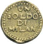 Photo numismatique  ARCHIVES VENTE 2013 -Coll Henri Dolet BARONNIALES et ETRANGERES ITALIE REPUBLIQUE CISALPINE (1800-1802) 392- 1 soldo di Milano (1799).