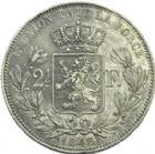 Photo numismatique  ARCHIVES VENTE 2013 -Coll Henri Dolet BARONNIALES et ÉTRANGERES BELGIQUE ROYAUME, Léopold Ier (1831-1865) 382- 2 ½ francs, 1848.