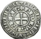 Photo numismatique  ARCHIVES VENTE 2013 -Coll Henri Dolet BARONNIALES et ÉTRANGERES DAUPHINE CHARLES 1er dauphin (1349-1364). 379- Gros delphinal.