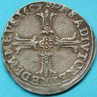 Photo numismatique  MONNAIES BARONNIALES Principauté des DOMBES HENRI II de Montpensier (1592-1608) Quart d'écu de 1604.