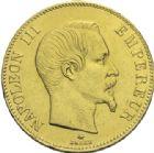 Photo numismatique  ARCHIVES VENTE 2013 -Coll Henri Dolet MODERNES FRANÇAISES NAPOLEON III, empereur (2 décembre 1852-1er septembre 1870)  370- 100 francs or, Strasbourg 1859.