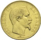 Photo numismatique  ARCHIVES VENTE 2013 -Coll Henri Dolet MODERNES FRANÇAISES NAPOLEON III, empereur (2 décembre 1852-1er septembre 1870)  368- 50 francs or, Paris 1857.