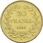 Photo numismatique  ARCHIVES VENTE 2013 -Coll Henri Dolet MODERNES FRANÇAISES LOUIS-PHILIPPE Ier (9 août 1830-24 février 1848)  365- 20 francs or, Lille 1841.