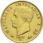 Photo numismatique  ARCHIVES VENTE 2013 -Coll Henri Dolet MODERNES FRANÇAISES NAPOLEON Ier, roi d'Italie (1805-1814)  356- 40 lire or, Milan, 1812.