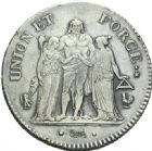 Photo numismatique  ARCHIVES VENTE 2013 -Coll Henri Dolet MODERNES FRANÇAISES LE DIRECTOIRE (27 octobre 1795-10 novembre 1799)  346- 5 francs an 7, Paris.
