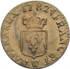 Photo numismatique  ARCHIVES VENTE 2013 -Coll Henri Dolet ROYALES FRANCAISES LOUIS XVI (10 mai 1774–21 janvier 1793)  341- Liard, Lille 1782.