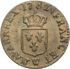 Photo numismatique  ARCHIVES VENTE 2013 -Coll Henri Dolet ROYALES FRANCAISES LOUIS XVI (10 mai 1774–21 janvier 1793)  339- Liard, Lille 1782.