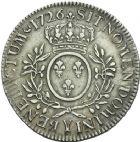 Photo numismatique  ARCHIVES VENTE 2013 -Coll Henri Dolet ROYALES FRANCAISES LOUIS XV (1er septembre 1715-10 mai 1774)  336- Ecu aux rameaux d'olivier, frappé à Bourges en 1726.