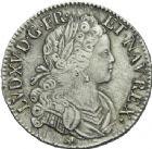 Photo numismatique  ARCHIVES VENTE 2013 -Coll Henri Dolet ROYALES FRANCAISES LOUIS XV (1er septembre 1715-10 mai 1774)  334- Ecu de Navarre, frappé à Bourges en 1719.