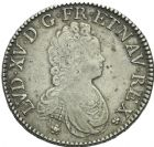 Photo numismatique  ARCHIVES VENTE 2013 -Coll Henri Dolet ROYALES FRANCAISES LOUIS XV (1er septembre 1715-10 mai 1774)  332- LOUIS XV. (1715-1774). Ecu vertugadin, Amiens 1717.
