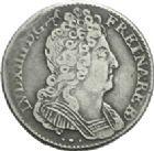 Photo numismatique  ARCHIVES VENTE 2013 -Coll Henri Dolet ROYALES FRANCAISES LOUIS XIV (14 mai 1643-1er septembre 1715)  328- Dixième d'écu de Béarn aux trois couronnes. Pau, 1712.