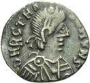 Photo numismatique  ARCHIVES VENTE 2013 -Coll Henri Dolet PEUPLES BARBARES VANDALES TRASAMUND (496-523) 319- 50 nummi, Carthage.