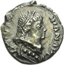 Photo numismatique  ARCHIVES VENTE 2013 -Coll Henri Dolet PEUPLES BARBARES OSTROGOTHS VITIGÈS (536-540) 317- Demi-silique au nom de Justinien Ier frappée à Ravenne.