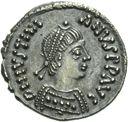 Photo numismatique  ARCHIVES VENTE 2013 -Coll Henri Dolet EMPIRE BYZANTIN JUSTINIEN Ier (527-565)  312- Demi-silique frappée à Ravenne vers 552-565.