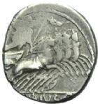 Photo numismatique  MONNAIES REPUBLIQUE ROMAINE C. Vibius C.f. Pansa (vers 90)  Denier.