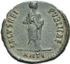 Photo numismatique  ARCHIVES VENTE 2013 -Coll Henri Dolet EMPIRE ROMAIN AELIA FLACILLA (épouse de Théodose Ier +386)  281- Bronze frappé à Antioche en 383.