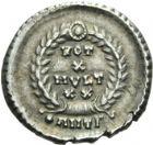 Photo numismatique  ARCHIVES VENTE 2013 -Coll Henri Dolet EMPIRE ROMAIN VALENS (Auguste 364-378)  279- Silique frappée à Antioche en 367-375.