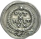 Photo numismatique  ARCHIVES VENTE 2013 -Coll Henri Dolet EMPIRE ROMAIN VALENTINIEN Ier (Auguste 364-375)  278- Silique frappée à Constantinople en 367-375.