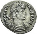 Photo numismatique  ARCHIVES VENTE 2013 -Coll Henri Dolet EMPIRE ROMAIN JULIEN II L'APOSTAT (César 335-360 - Auguste 360-363)  277- Silique frappée à Trèves en 360-363.