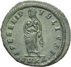 Photo numismatique  ARCHIVES VENTE 2013 -Coll Henri Dolet EMPIRE ROMAIN FAUSTA (épouse de Constantin le Grand)  275- Nummus frappé à Cyzique en 326-327.
