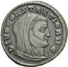 Photo numismatique  ARCHIVES VENTE 2013 -Coll Henri Dolet EMPIRE ROMAIN MAXENCE (Princeps 306 - César 306 - Auguste 306-312)  274- Nummus frappé à Ticinum en 307-308 au nom de Divo Constantio.