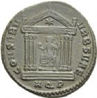 Photo numismatique  ARCHIVES VENTE 2013 -Coll Henri Dolet EMPIRE ROMAIN MAXENCE (Princeps 306 - César 306 - Auguste 306-312)  271- Nummus frappé à Aquilée en 309.