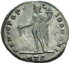 Photo numismatique  ARCHIVES VENTE 2013 -Coll Henri Dolet EMPIRE ROMAIN SEVERE II (306-307)  270- Nummus frappé à Héraclée en juillet 306-mars 307.