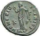 Photo numismatique  ARCHIVES VENTE 2013 -Coll Henri Dolet EMPIRE ROMAIN GALERIA VALERIA (épouse de Galère)  269- Nummus frappé à Alexandrie en 308-310.