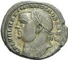 Photo numismatique  ARCHIVES VENTE 2013 -Coll Henri Dolet EMPIRE ROMAIN GALERE (César 293-305 - Auguste 305-311)  268- Follis frappé à Alexandrie en 304-305.