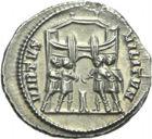 Photo numismatique  ARCHIVES VENTE 2013 -Coll Henri Dolet EMPIRE ROMAIN GALERE (César 293-305 - Auguste 305-311)  267- Argenteus de la 1ère émission frappé à Rome en 294/295.