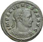 Photo numismatique  ARCHIVES VENTE 2013 -Coll Henri Dolet EMPIRE ROMAIN CONSTANCE CHLORE (César 293-305 - Auguste 305-306)  266- Follis frappé à Londres en 303.