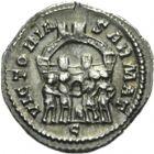 Photo numismatique  ARCHIVES VENTE 2013 -Coll Henri Dolet EMPIRE ROMAIN CONSTANCE CHLORE (César 293-305 - Auguste 305-306)  265- Argenteus frappé à Trèves en 295-297.