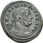 Photo numismatique  ARCHIVES VENTE 2013 -Coll Henri Dolet EMPIRE ROMAIN MAXIMIEN HERCULE (César 286-305 - Auguste 306-308, 310)  264- Nummus frappé à Londres à l'été 307.