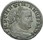 Photo numismatique  ARCHIVES VENTE 2013 -Coll Henri Dolet EMPIRE ROMAIN MAXIMIEN HERCULE (César 286-305 - Auguste 306-308, 310)  263- Nummus frappé à Aquilée à l'été 307.