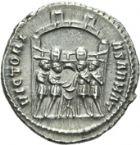 Photo numismatique  ARCHIVES VENTE 2013 -Coll Henri Dolet EMPIRE ROMAIN MAXIMIEN HERCULE (César 286-305 - Auguste 306-308, 310)  262- Argenteus de la 1ère émission, frappé à Rome en 294.