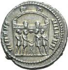 Photo numismatique  ARCHIVES VENTE 2013 -Coll Henri Dolet EMPIRE ROMAIN DIOCLETIEN (284-305)  261- Argenteus de la 1ère émission, frappé à Rome en 294.