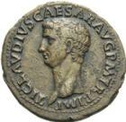 Photo numismatique  ARCHIVES VENTE 2013 -Coll Henri Dolet EMPIRE ROMAIN CLAUDE (41-54)  251- As, frappé à Rome.
