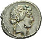 Photo numismatique  ARCHIVES VENTE 2013 -Coll Henri Dolet RÉPUBLIQUE ROMAINE   249- C. Vibius Varus (vers 42). Denier.