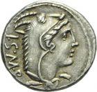 Photo numismatique  ARCHIVES VENTE 2013 -Coll Henri Dolet RÉPUBLIQUE ROMAINE   246- T. Thorius Balbus (vers 105). Denier.